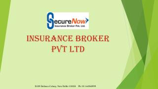 Securenow Insurance Broker Pvt. Ltd