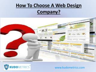 How To Choose A Web Designing Company?