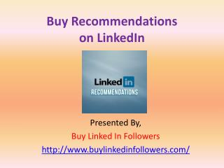 Buy Recommendations On LinkedIn