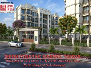 1 & 2 BHK Luxury Flats in Panvel, Siddhivinayak Garima, Taloja