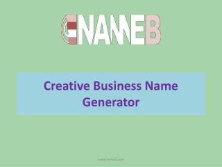 How to generate creative business name