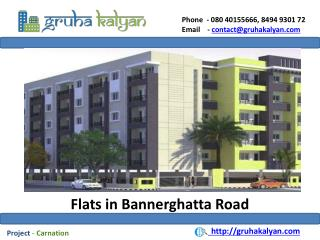 Flats for sale in Bannerghatta road-Carnation