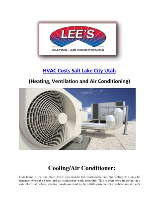 LeesHeatAc- Conditioning BTU and HVAC Costs Salt Lake City Utah