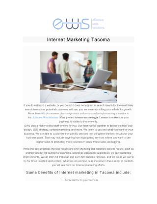 Internet Marketing Tacoma