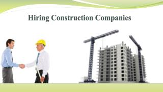 Hiring Construction Companies