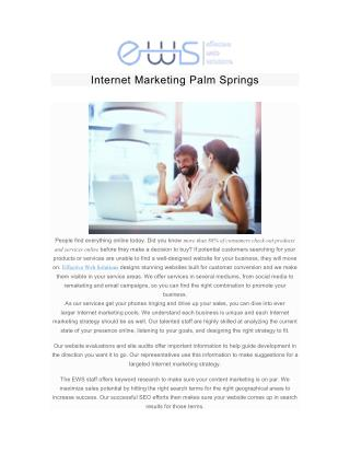 Internet Marketing Palm Springs