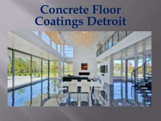 Concrete Floor Coatings Detroit