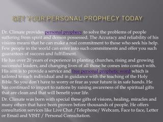 Get Your Personal Prophecy Today