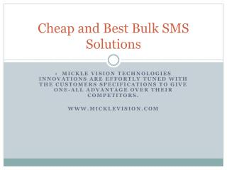 Cheap and Best Bulk SMS Solutions