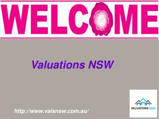 Exact Property Valuation By Valuations NSW