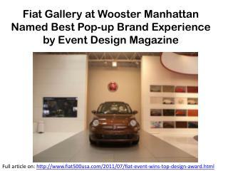 Fiat Event Wins Top Design Award