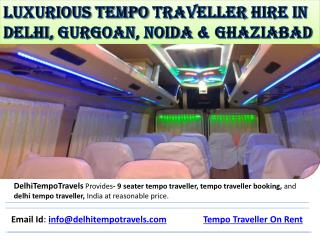 Luxurious Tempo Traveller Hire in Delhi