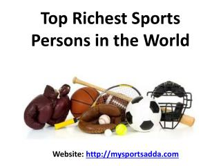 Top Richest Sports Persons in the World