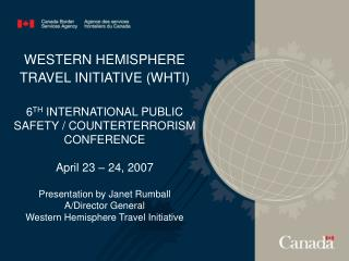 TIONAL PUBLIC SAFETY / COUNTERTERRORISM CONFERENCE