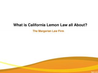 Lemon Law California