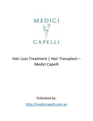 Medici Capelli - Hair Loss Treatment | Hair Transplant