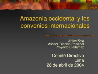Amazon a occidental y los convenios internacionales
