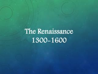 Mayer - World History - The Renaissance