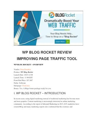 WP Blog Rocket Review - Should you buy it?