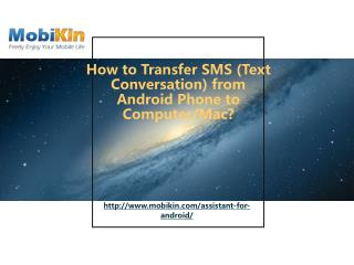 Transfer SMS from Android to PC