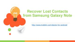 Recover Lost Contacts from Samsung Galaxy Note