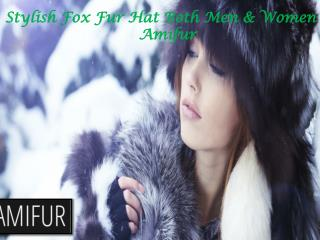 Stylish Fox Fur Hat Both Men & Women - Amifur