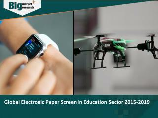Electronic Paper Screen in Education Sector 2015-2019