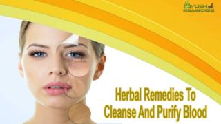 Herbal Remedies To Cleanse And Purify Blood In An Effective Manner