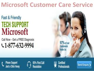 Call Microsoft customer care 1-877-632-9994 tollfree number for support