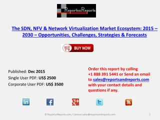 SDN, NFV & Network Virtualization Market Ecosystem: 2015 � 2030 � Opportunities, Challenges, Strategies & Forecasts