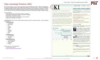 Open Knowledge Initiative OKI
