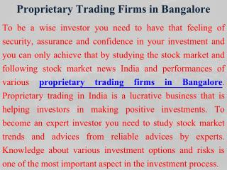 Proprietary Trading in India