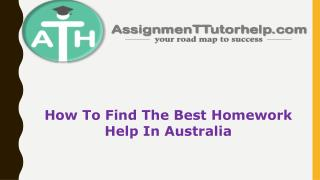 How To Find The Best Homework Help In Australia | ATH
