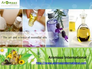 Special Collection of Essential Oils @ Aromaazinternational.com