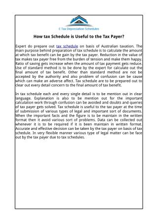 House Depreciation | E Tax Depreciation Schedules