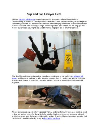 Slip And Fall Lawyer Firm