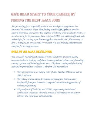 Ajax-Jobs Opening-Wisdpmjobs