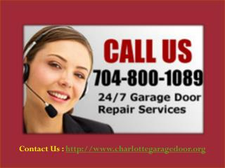 Garage Door Repair Charlotte NC - 704-800-1089