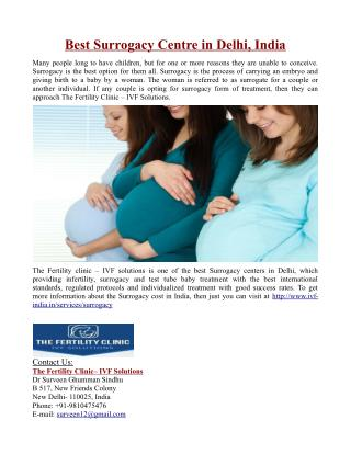 Best Surrogacy Centre in Delhi, India