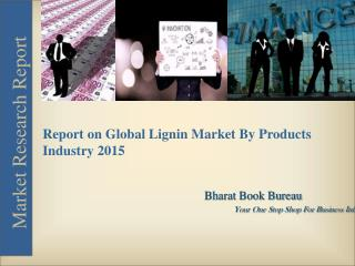 Report on Global Lignin Market By Products Industry [2015]