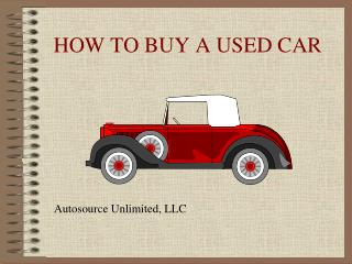 Autosource unlimited llc how to buy a used car