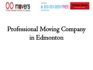 Professional Moving Company in Edmonton
