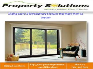 5 Extra ordinary Features of Sliding doors