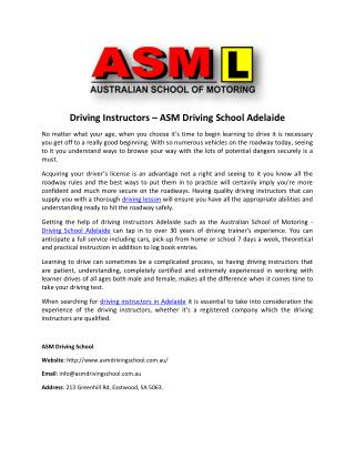 Adelaide Driving Instructor