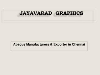 Abacus Manufacturers & Exporter in Chennai
