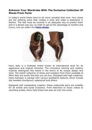 Fennix Italian Mens Shoes