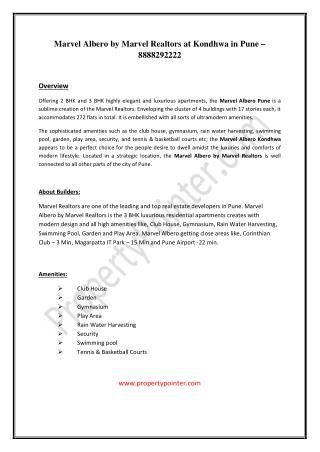 Marvel Albero Kondhwa Pune|Marvel Albero by Marvel Realtors