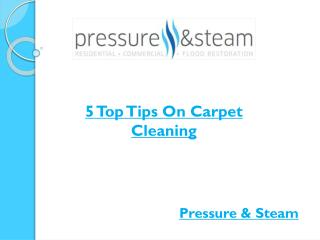 5 Top Tips On Carpet Cleaning
