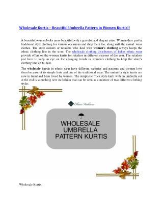 Wholesale Kurtis – Beautiful Umbrella Pattern in Women Kurtis!!