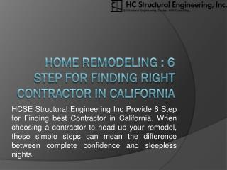 Home Remodeling : 5 Step for Finding Right Contractor in California